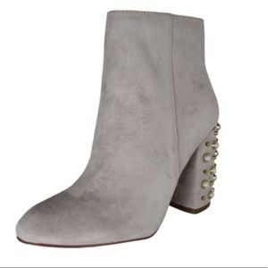 Steve Madden gray suede booties. New, never worn.